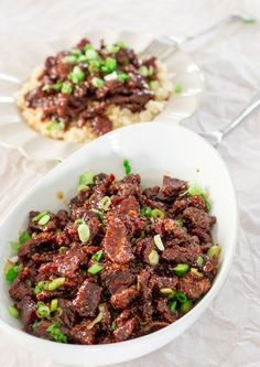 PF Chang's Mongolian Beef Copycat Recipe | Jo Cooks  #mongolianbeef #beef #recipe