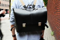 "The ""back to school"" leatherette satchel #leather #satchel"