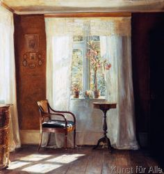 Carl Holsoe - Fensterplatz im Hause des Künstlers in Lyngby