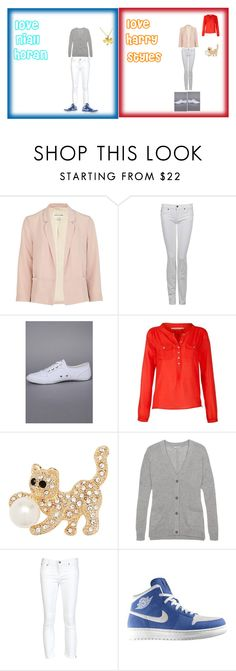 """""""love niall and harry"""" by directioner248 ❤ liked on Polyvore featuring 7 For All Mankind, Creative Recreation, John Lewis, Jon Richard, Jigsaw, Helmut Lang, NIKE and Jennifer Meyer Jewelry"""