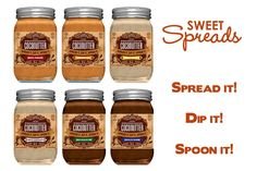 """Sweet Spreads All Natural Flavored Coconut Butter """" Coconutter """" - A Healthy, Gluten Free & Delicious Dessert Spread."""