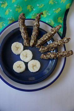 Hirsekringel waren gestern - breifreibaby isst jetzt Bananen-Hafer-Stangen