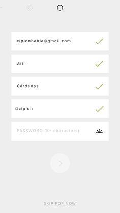 UI register VSCOcam