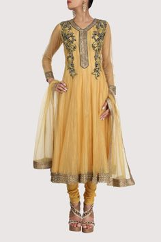 Old silk suit enriched with oriental pattern appliqué on the bodice. Shop Now: www.karmik.in/shopping/index.php