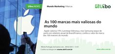 As 100 Marcas mais valiosas do mundo. Mundo Marketing, Branding