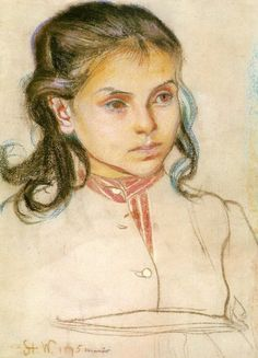 Head of a Girl, 1895 by Stanisław Wyspiański on Curiator, the world's biggest collaborative art collection. Classical Art, Drawing Prints, Portrait Drawing, Happy Art, Female Art, Online Art, Online Painting, Portrait Painting, Beauty In Art