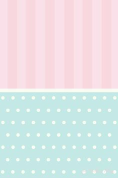 Pastel pink stripes mint green dots spots iphone phone wallpaper background lockscreen