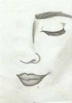 Easy pencil drawings, face drawing easy, good easy drawings, easy d Easy Pencil Drawings, Pencil Drawing Tutorials, Art Drawings Sketches, Cool Drawings, Drawing Ideas, Drawing Faces, Tumblr Drawings Easy, Drawing Tips, Face Drawing Easy
