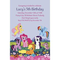 My Little Pony Friends, My Little Pony Games, My Little Pony Birthday Party, Girls Birthday Party Themes, 7th Birthday, Birthday Ideas, Online Party Supplies, Kids Party Supplies, My Little Pony Invitations