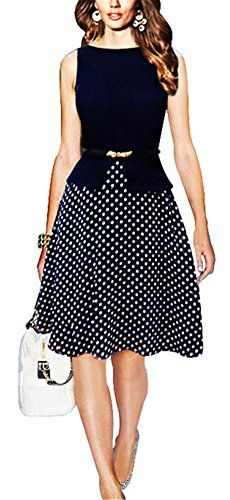 LOVEMISS Women's Polka Dots Swing Wear to Work Dress MX01 (L) LOVEMISS http://www.amazon.com/dp/B0103X2WJK/ref=cm_sw_r_pi_dp_S9f.vb104SS9S