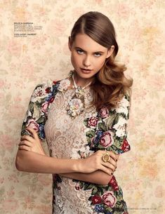 Dolce & Gabbana. I overlay strategic patches of bold floral print onto a plain, textured, or striped garment. myb