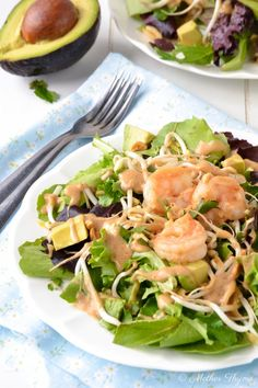 Thai Shrimp Salad with Peanut Dressing