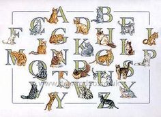 Buy Cats Alphabet Sampler Cross Stitch Kit Online at www.sewandso.co.uk
