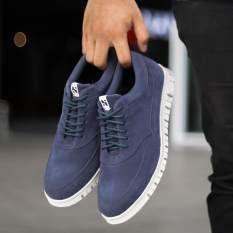 Sepatu Casual Sneakers Pria Terbaru Navara Jeff Blue Sepatu