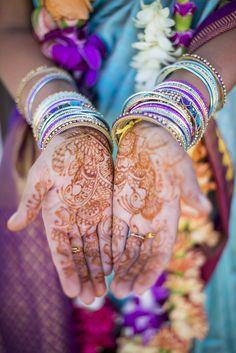 Bridal mehndi design - Eclectic Destination Wedding via Every Last Detail
