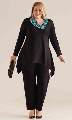 Abby Cowl Blouse / MiB Plus Size Fashion for Women / Winter Fashion / http://www.makingitbig.com/product/5044