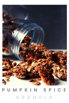 This is, actually, my year-round go-to granola recipe! But, come October, I go full pumpkin spice mode! Then, when spring comes, I go back to just cinnamon! Add it to Greek yogurt and drizzle a bit of honey, and you'll have the perfect snack! #homemadegranola #pumpkinspice #vegetariansnacks Vegetarian Snacks, Vegetarian Breakfast, New Recipes, Vegan Recipes, Greek Yogurt, Granola, Pumpkin Spice, Cinnamon, Brunch