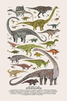 Dinosauria print