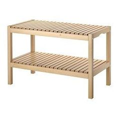 MOLGER Bench - birch - IKEA.  I want a bunch of these in my dining room along the windows wall.