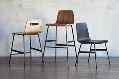 Lecture Bar Stool in Multiple Finishes design by Gus Modern Coffee And End Tables, Rustic Coffee Tables, School Chairs, Office Chairs, Ottoman Stool, Round Chair, Counter Bar Stools, Mid Century Modern Design, Furniture Collection