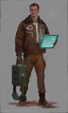 Roving Medic, Darius Zablockis on ArtStation at https://www.artstation.com/artwork/roving-medic