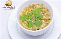 SOUP GÀ NẤM KIM CHÂM Chicken & shiitake mushroom soup