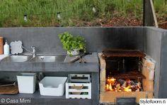 kesäkeittiö,grilli,tiskipöytä