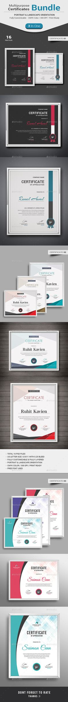 Modern certificate certificate certificate design and template certificate bundle award certificatescertificate templatescertificate of meritgraduation yelopaper