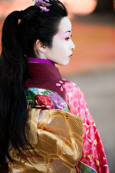 """""""Remember, geisha are not courtesans. We create another secret world, a place only of beauty. The very word """"geisha"""" means artist. Japanese Geisha, Japanese Beauty, Japanese Kimono, Japanese Art, Asian Beauty, Japanese Style, Michelle Yeoh, Zhang Ziyi, We Are The World"""
