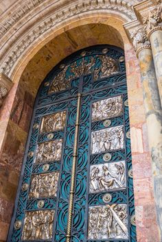 The door to the Catedral Nueva in Cuenca Ecuador is covered with gorgeous detail. From: Cuenca, Ecuador: A Wanderer's Dream