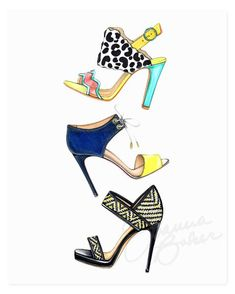 Summer Sandals Art Print – Joanna Baker - Available from $20 on http://shop.joanna-baker.com =)