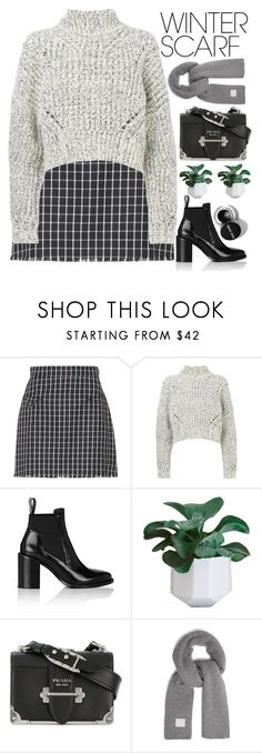 """""""WARM WINTERS"""" by evangeline-lily ❤ liked on Polyvore featuring Thom Browne, Isabel Marant, Paco Rabanne, Prada and Acne Studios"""