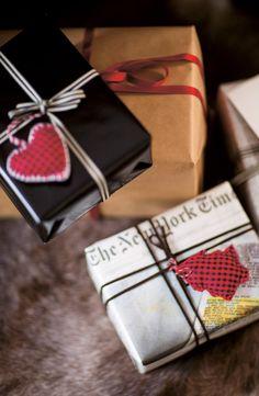 cute Christmas gift wrap idea