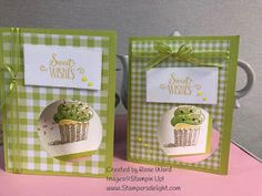 Rubber Rosie: Hello Cupcake Video and Samples! NEW Saleabration Set! Diy Birthday, Birthday Cards, Cupcake Videos, Cupcake Card, Sweet Cupcakes, Card Maker, Stamping Up, Paper Decorations, Cool Cards