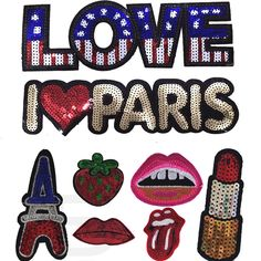 3Pcs/lot new sequined suit patches for clothes Stage decoration clothes stickers applique