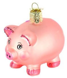 Old World Christmas Piggy Bank Glass Blown Ornament * You can get additional details at the image link.