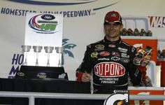Driving a special DuPont 20 Years paint scheme, Jeff Gordon put the hammer down to win the NASCAR Sprint Cup Series season finale at Homestead Miami Speedway. The Raced Win die-cast of Gordon's No. 24 DuPont 20 Years Chevrolet is now available for pre-order at www.lionelnascar.com, the NASCAR Superstore or your local die-cast dealer.