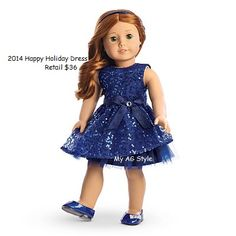 American Girl Doll Brand Happy Holiday Dress