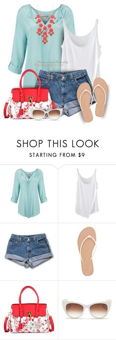 """""""Untitled #1641"""" by casuality ❤ liked on Polyvore featuring Mary Portas, Charlotte Russe, Dasein and Thierry Lasry"""