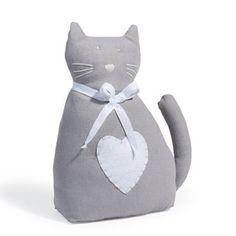 Sujetapuertas gato gris