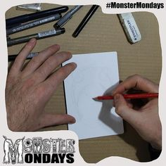 Our second monster is here! Yay! For monster mondays! Progress shot of it being put together! See it develop over the next few hours! Design will be available on T-shirts and Badges soon! Create Art Raise Awareness and manage your monsters! #MonsterMondays #monster #drawing #penandink #art #instaart #instaartist #artist #mentalhealth #mentalhealthawareness #anger #illustration #wip #lion #graphic #anxiety #depression #smashthestigma #stigmafighter #suicideawareness #mentalhealthmatters…