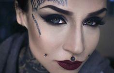 Monami Frost Cheek Piercings, Japanese Dragon Tattoos, Monami Frost, Full Face Makeup, Up Game, Flawless Makeup, War Paint, Woman Crush, Halloween Face Makeup