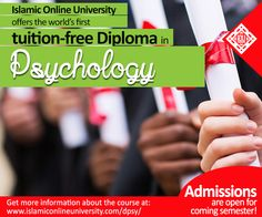 Diploma in Psychology from an Islamic Perspective. Completely Online  #Free #Education