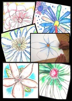 "Framable ART for MOTHER""S DAY! O'Keefe-inspired flowers drawing lesson. Includes O'Keeffe biography plus ""draw and write"" student response sheet."