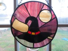 Witch Hat  Wicca Pagan Witchy Stained Glass by PerizadCreations