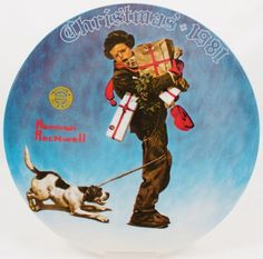 Vintage Knowles Norman Rockwell Santa's Golden Gift Holiday ...