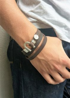 Mens Wrap Bracelet Men Leather Bracelet Leather Wrap