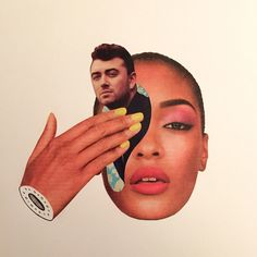 the collage mash-up madness of the daily splice | Sam Smith and our Winter Warm Up Issue, Jourdan Dunn