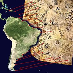 The mysterious Piri Reis Map: Is this evidence of a very advanced prehistoric civilisation? Ancient Aliens, Ancient History, Piri Reis Map, Mystery Of History, Ancient Artifacts, Ancient Map, Old Maps, Historical Maps, Ancient Civilizations