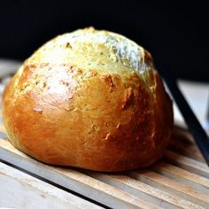 Italian Bread - This was fabulous.  I made mine into a long loaf instead of a round one.  Served with the Drunken Noodles PIN I found.  Delicious!  Will absolutely make again!  ~JKM Oct 2013